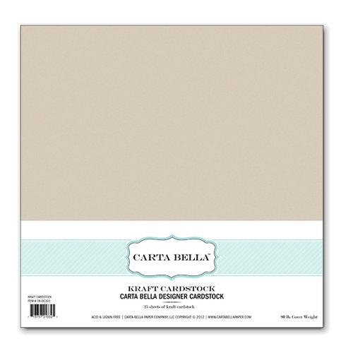Carta Bella Paper - 12 x 12 Designer Cardstock Pack - Kraft