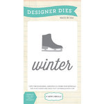 Carta Bella Paper - All Bundled Up Collection - Christmas - Designer Dies - Winter Skate