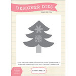 Carta Bella Paper - All Bundled Up Collection - Christmas - Designer Dies - Snowflake Tree