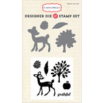Carta Bella Paper - A Perfect Autumn Collection - Designer Die and Clear Acrylic Stamp Set - Grateful