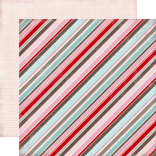 Carta Bella Paper - Devoted Collection - 12 x 12 Double Sided Paper - So Loved Stripe
