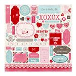 Carta Bella Paper - Devoted Collection - 12 x 12 Cardstock Stickers - Elements