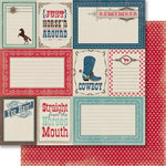 Carta Bella Paper - Samantha Walker - Giddy Up Collection - Boy - 12 x 12 Double Sided Paper - Yee Haw