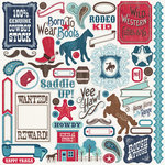 Carta Bella Paper - Samantha Walker - Giddy Up Collection - Boy - 12 x 12 Cardstock Stickers - Elements