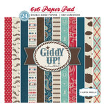 Carta Bella Paper - Samantha Walker - Giddy Up Collection - Boy - 6 x 6 Paper Pad