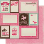 Carta Bella Paper - Samantha Walker - Giddy Up Collection - Girl - 12 x 12 Double Sided Paper - Rodeo Queen