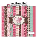 Carta Bella Paper - Samantha Walker - Giddy Up Collection - Girl - 6 x 6 Paper Pad