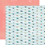 Carta Bella Paper - Hello Again Collection - 12 x 12 Double Sided Paper - Triangles