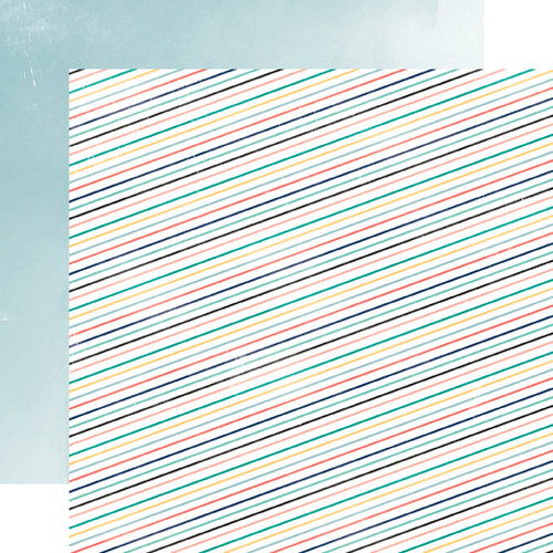 Carta Bella Paper - Hello Again Collection - 12 x 12 Double Sided Paper - Stripes