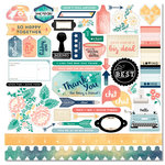 Carta Bella Paper - Hello Again Collection - 12 x 12 Cardstock Stickers - Elements