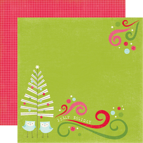 Carta Bella Paper - Merry and Bright Collection - Christmas - 12 x 12 Double Sided Paper - Jolly Holiday