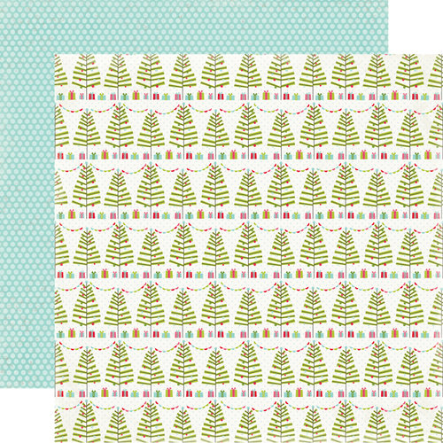 Carta Bella Paper - Merry and Bright Collection - Christmas - 12 x 12 Double Sided Paper - Tinseled Tree