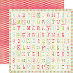 Carta Bella Paper - Merry and Bright Collection - Christmas - 12 x 12 Double Sided Paper - Merry Alphabet