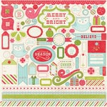 Carta Bella Paper - Merry and Bright Collection - Christmas - 12 x 12 Cardstock Stickers - Elements