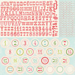 Carta Bella Paper - Merry and Bright Collection - Christmas - 12 x 12 Cardstock Stickers - Alphabet