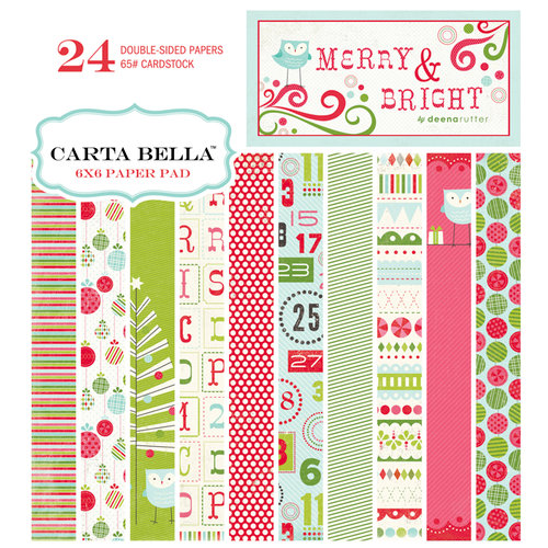 Carta Bella Paper - Merry and Bright Collection - Christmas - 6 x 6 Paper Pad