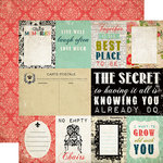 Carta Bella Paper - Moments and Memories Collection - 12 x 12 Double Sided Paper - Journaling Cards