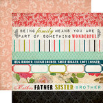 Carta Bella Paper - Moments and Memories Collection - 12 x 12 Double Sided Paper - Border Strip