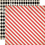 Carta Bella Paper - Moments and Memories Collection - 12 x 12 Double Sided Paper - Diagonal Stripe