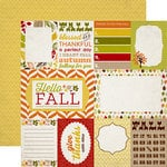 Carta Bella Paper - A Perfect Autumn Collection - 12 x 12 Double Sided Paper - Journaling Cards