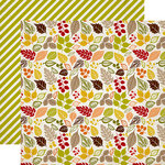 Carta Bella Paper - A Perfect Autumn Collection - 12 x 12 Double Sided Paper - Falling Leaves