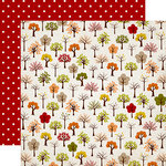 Carta Bella Paper - A Perfect Autumn Collection - 12 x 12 Double Sided Paper - Trees