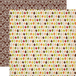 Carta Bella Paper - A Perfect Autumn Collection - 12 x 12 Double Sided Paper - Crisp Days