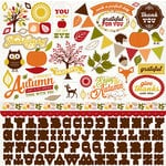 Carta Bella Paper - A Perfect Autumn Collection - 12 x 12 Cardstock Stickers - Elements