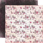 Carta Bella Paper - Paris Girl Collection - 12 x 12 Double Sided Paper - Around Town