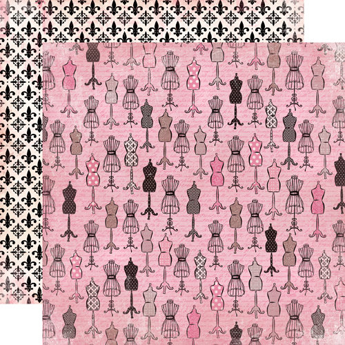 Carta Bella Paper - Paris Girl Collection - 12 x 12 Double Sided Paper - Ooh La La!