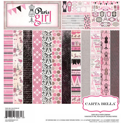 Carta Bella Paper - Paris Girl Collection - 12 x 12 Collection Kit