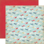 Carta Bella Paper - Rough and Tumble Collection - 12 x 12 Double Sided Paper - Soaring Planes