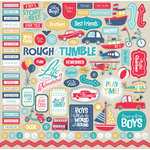 Carta Bella Paper - Rough and Tumble Collection - 12 x 12 Cardstock Stickers - Elements