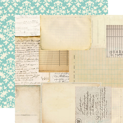 Carta Bella Paper - So Noted Collection - 12 x 12 Double Sided Paper - Script and Scribbles