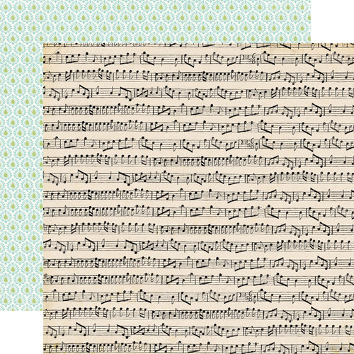 Carta Bella Paper - So Noted Collection - 12 x 12 Double Sided Paper - Musical Score