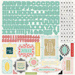 Carta Bella Paper - So Noted Collection - 12 x 12 Cardstock Stickers - Alphabet