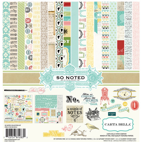 Carta Bella Paper - So Noted Collection - 12 x 12 Collection Kit