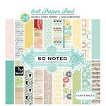 Carta Bella Paper - So Noted Collection - 6 x 6 Paper Pad