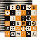 Carta Bella Paper - Spooky Collection - Halloween - 12 x 12 Double Sided Paper - Halloween Countdown