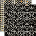 Carta Bella Paper - Spooky Collection - Halloween - 12 x 12 Double Sided Paper - Spooky Damask