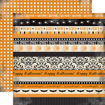 Carta Bella Paper - Spooky Collection - Halloween - 12 x 12 Double Sided Paper - Spooky and Scary