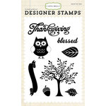Carta Bella Paper - A Perfect Autumn Collection - Clear Acrylic Stamps - Thankful Blessing