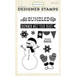 Carta Bella Paper - All Bundled Up Collection - Christmas - Clear Acrylic Stamps - All Bundled Up