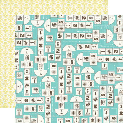 Carta Bella Paper - True Friends Collection - 12 x 12 Double Sided Paper - Hopscotch