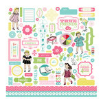 Carta Bella Paper - True Friends Collection - 12 x 12 Cardstock Stickers - Elements