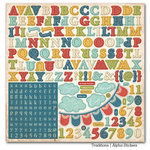 Carta Bella Paper - Traditions Collection - 12 x 12 Cardstock Stickers - Alphabet