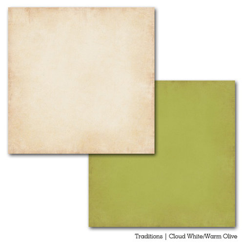 Carta Bella Paper - Traditions Collection - 12 x 12 Double Sided Paper - Cloud White