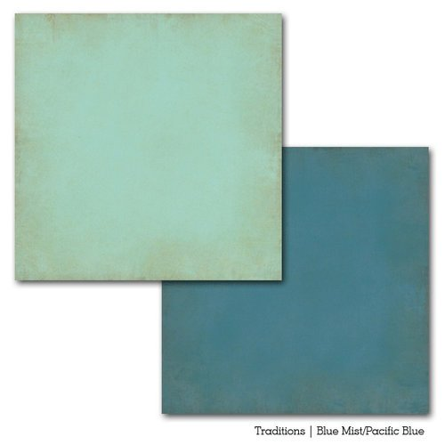 Carta Bella Paper - Traditions Collection - 12 x 12 Double Sided Paper - Blue Mist