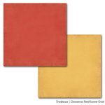 Carta Bella Paper - Traditions Collection - 12 x 12 Double Sided Paper - Cinnamon Red