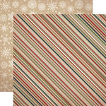 Carta Bella Paper - Warm and Cozy Collection - Christmas - 12 x 12 Double Sided Paper - Cozy Stripe